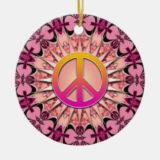 Pink Ribbon Mandala Keepsake Peace Ornament