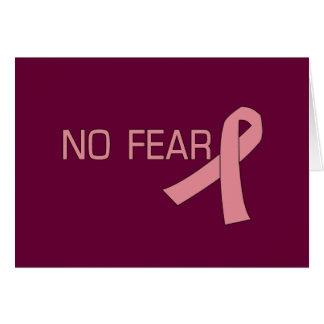 Pink Ribbon NO FEAR Breast Cancer Awareness Greeting Card