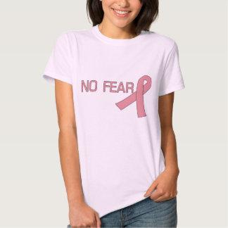 Pink Ribbon NO FEAR Breast Cancer Awareness Tee Shirt