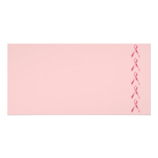 Pink Ribbon Personalized Photo Card