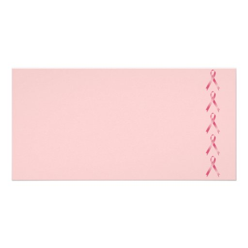 Pink Ribbon Photo Greeting Card