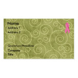 Pink Ribbon Profile Card U Customise Pack Of Standard Business Cards