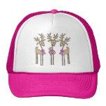 Pink Ribbon Reindeer Hats