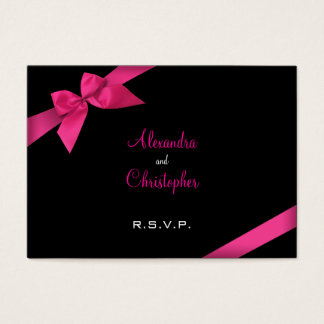 Pink Ribbon RSVP Minicard