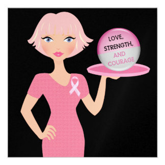 Pink Ribbon - Serving Love Strength and Courage Invites