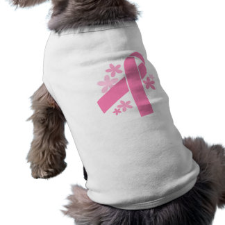 Pink Ribbon Sleeveless Dog Shirt