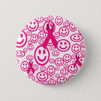 Pink Ribbon Smiles That Help 6 Cm Round Badge