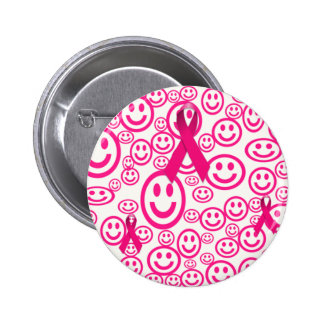Pink Ribbon Smiles That Help 6 Cm Round Badge