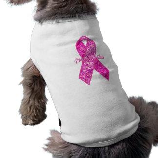 Pink Ribbon Sparkle apparel Pet Tee