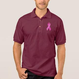 Pink Ribbon Sparkle apparel Polo Shirts