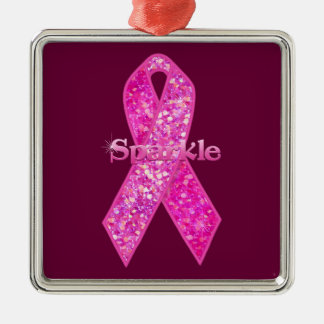 Pink Ribbon Sparkle gifts Ornament