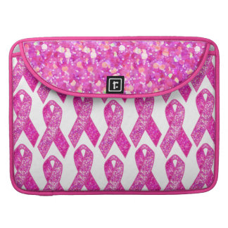 Pink Ribbon Sparkle gifts Sleeve For MacBook Pro