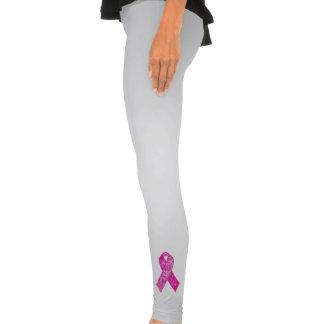 Pink Ribbon Sparkle leggings 2