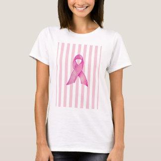 Pink Ribbon stripes T-Shirt
