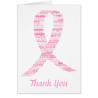 Pink Ribbon Survivor s Message Thank You card