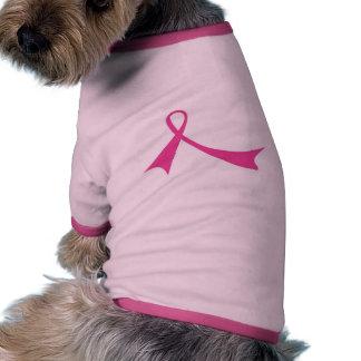 Pink Ribbon T-Shirt for Pets Ringer Dog Shirt