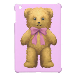Pink ribbon Teddy Bear iPad Mini Cases