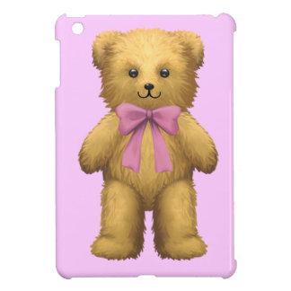 Pink ribbon Teddy Bear iPad Mini Cover