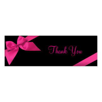 Pink Ribbon Thank You Card Pack Of Skinny Business Cards