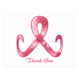 Pink Ribbon Thank You Postcard