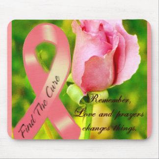 Pink Ribbon & The Rose_ Mousepad