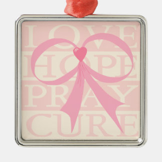 Pink Ribbon Thoughts Ornament