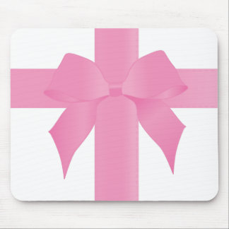 Pink Ribbon Tied in a Bow Mousepad