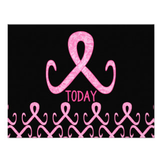 Pink Ribbon Today Personalized Invitations