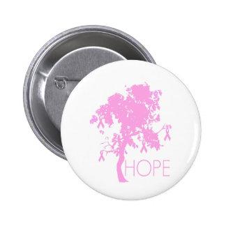 Pink Ribbon Tree of Hope 6 Cm Round Badge