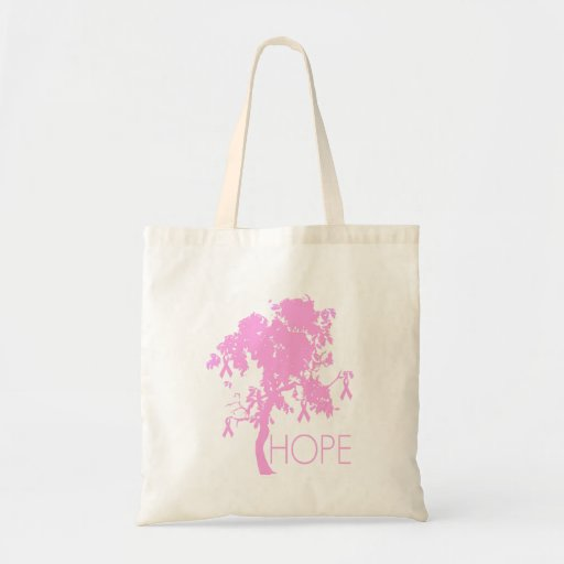 Pink Ribbon Tree of Hope Bag