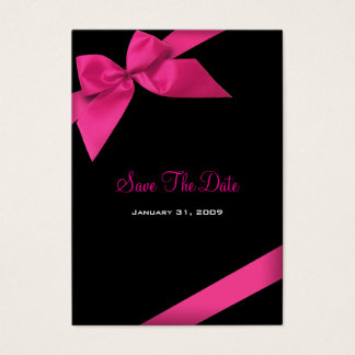 Pink Ribbon Wedding Save The Date MiniCard