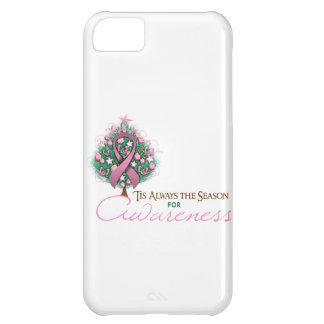 Pink Ribbon Xmas Awareness Season Cover For iPhone 5C