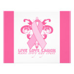 Pink Ribbons Every Day Personalized Invitations
