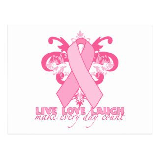 Pink Ribbons Every Day Postcard