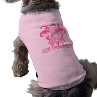 Pink Ribbons Every Day Sleeveless Dog Shirt