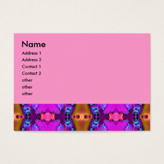 pink ribbons fractal business card