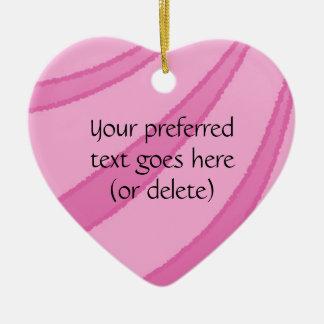 Pink Ribbons Heart Ornament Customizable