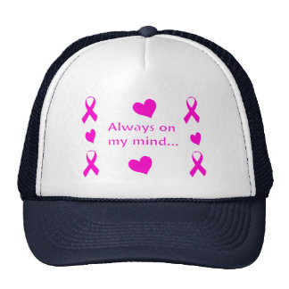 Pink Ribbons & Hearts Cap