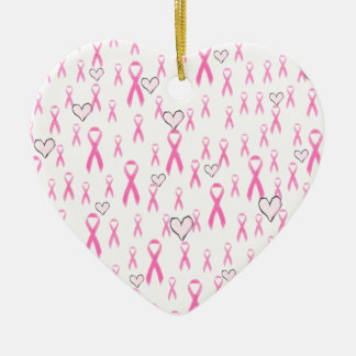 Pink Ribbons I Care _ Christmas Tree Ornament