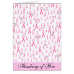 Pink Ribbons,I Care!_ Note Card