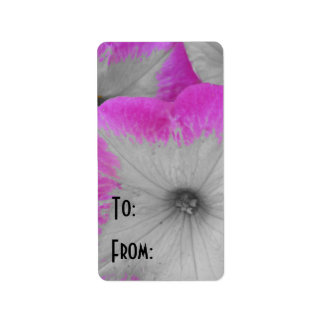 Pink Rimmed Petunia Address Label