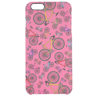 Pink road bikes clear iPhone 6 plus case
