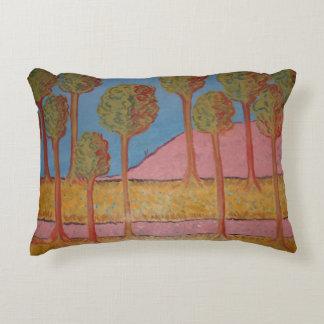 pink road decorative cushion
