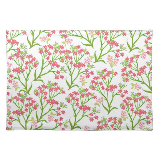 Pink Roadside Wildflowers Placemat