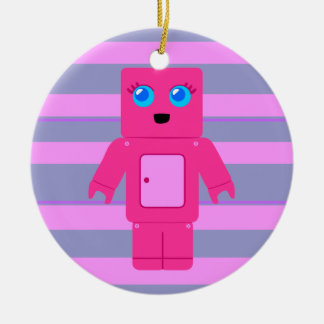 Pink Robot Christmas Ornament