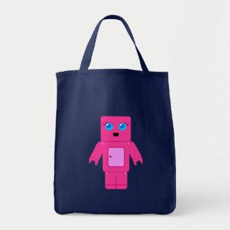 Pink Robot Tote Bag