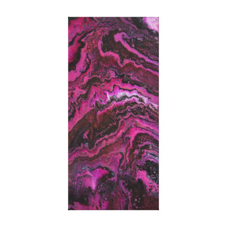 Pink Rock Layers Canvas Print