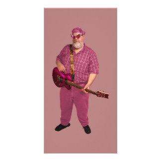 Pink Rocker Photo Greeting Card