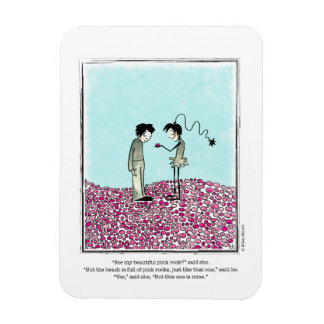 PINK ROCKS cartoon by Ellen Elliott Rectangular Photo Magnet