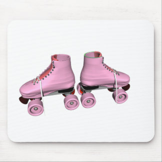 Pink Roller Skates Mousepads